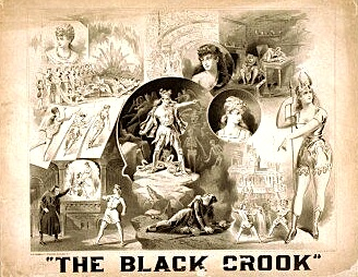 "Poster for ""The Black Crook"" at Niblo's Theatre."
