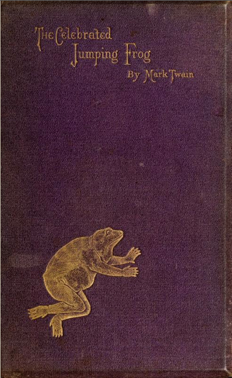 """The Celebrated Jumping Frog"" - first ed. cover"
