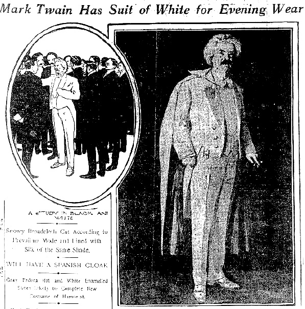 Mark Twain -- man in white