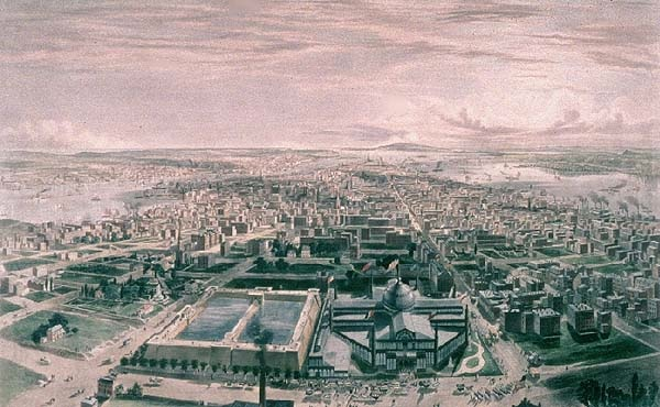 View of New York and the Crystal Palace Exposition, 1855